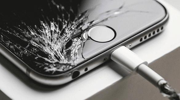iPhone fissuré